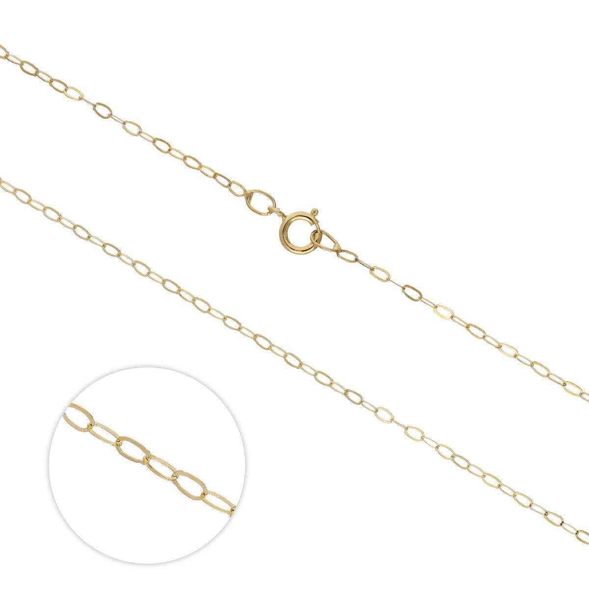 9ct Gold Lightweight Trace Chain 16 - 20 Inches