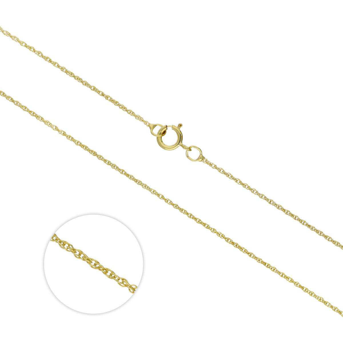 9ct Gold Rope Chain 16 - 18 Inches