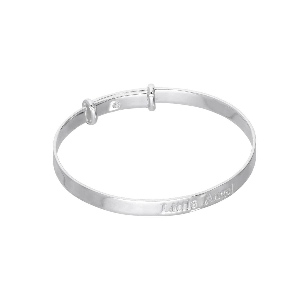 Sterling Silver 'Little Angel' Adjustable Babies Bangle