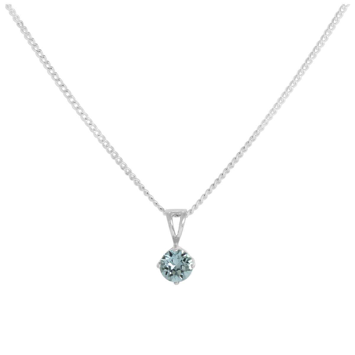 Sterling Silver & Topaz Crystal Made with Swarovski Elements November Birthstone Pendant Necklace 16 - 24 Inches